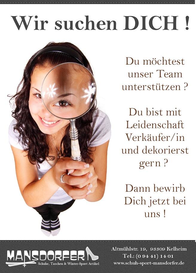 Karriere Stellenangebot Jobs bei Schuh-Sport-Mansdorfer in Kelheim